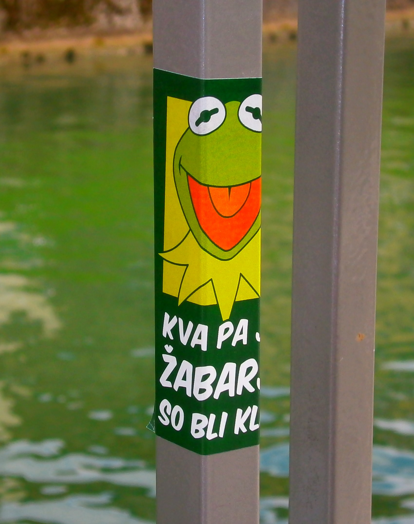 """Kva pa je, žabarji so bli kle!"" (What is it? Frog people were here!)"