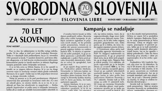 Slovenian emigrants publish a weekly magazine in Argentina