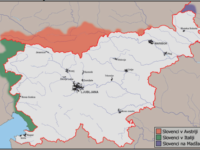 Slovenian minorities map