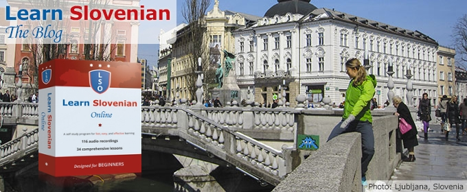 Learn Slovenian The Blog – Photo of Prešeren Square, Ljubljana, Slovenia in background